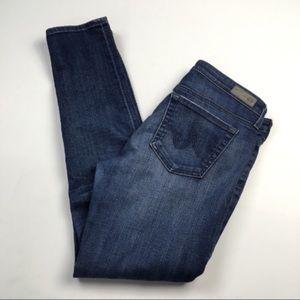AG The Stilt Cigarette Skinny Dark Wash Jeans